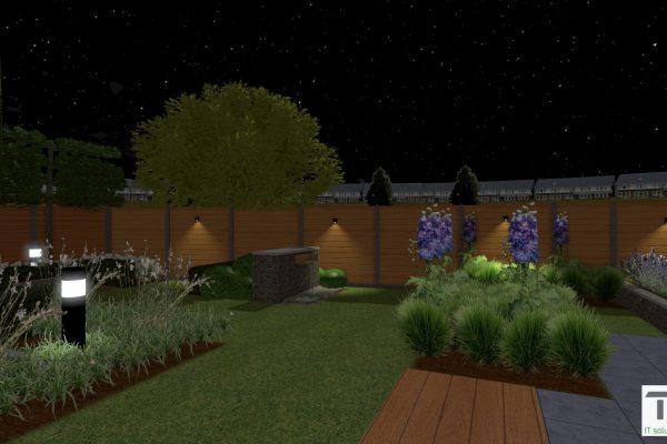 Avond tuin